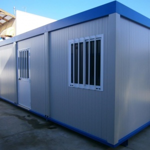 Transportable monoblock by container