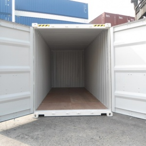 40' open top container